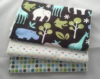 Set of 3 Baby Burp Cloths