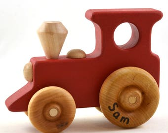 Personalized Toy Train - Choose Any Color - Wooden Toy Train - Etsy Kids