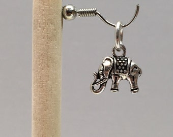 925 Sterling Silver Elephant Charm, Elephant Charm