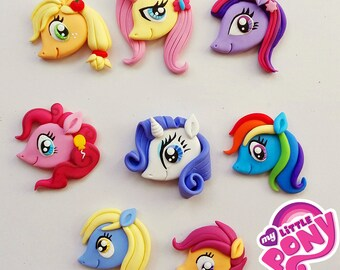 Pack of 8 pieces of my little pony to paste. In polymer clay