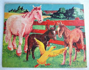 Vintage Country Farm Rooster Jigsaw Puzzle