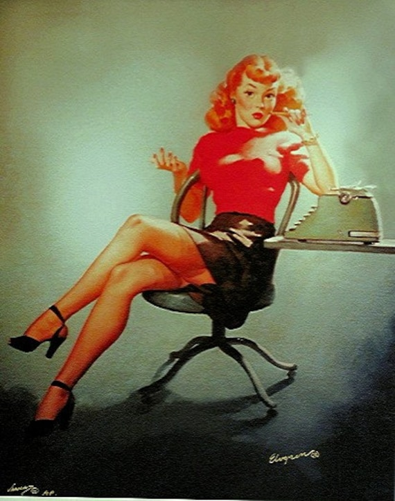 Perfect Joan Pin Up Of Mad Men Redhead Secretary Pinup