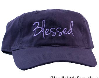 Blessed Embroidered Soft Bamboo Hat