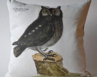 Vintage Owl Pillow