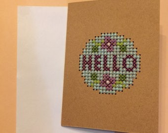 "Floral ""Hello"" Card"