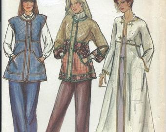 Vintage 1970s Butterick Sewing Pattern 3385 Misses Jacket Coat Vest Size Small