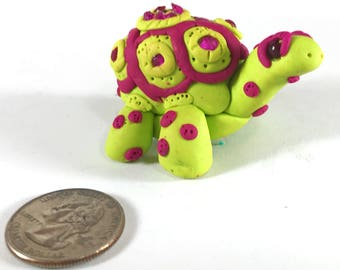 Polymer clay turtle