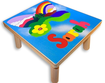 NAME PUZZLE STOOL | Butterfly Mountains