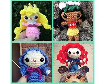 Custom Made-to-Order Disney Princess Amigurumi Doll