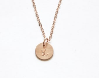 Rose Gold Necklace, Initial Necklace, Personalized Necklace, 1, 2, 3, 4 initials, Bridesmaid Gift Personalized Jewelry Rose Gold Necklace