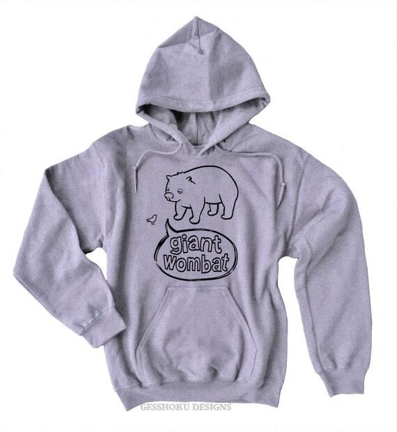 Funny sweatshirt Giant Wombat shirt with bird Funny graphic sweatshirt with quote geek chic science geek gift hipster scene tRjVQL40