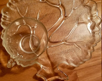 Indiana Glass Tree snack plates (service for 4)