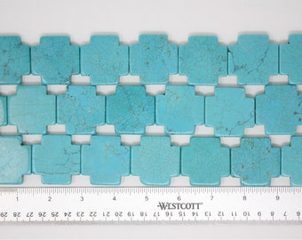 Turquoise Greek Cross 1 Strand