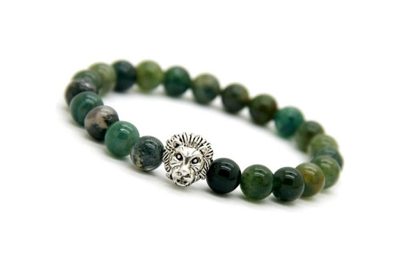 product natural ext handmade jewelry moss agate bracelet aquatic lucky view shop evil crystal