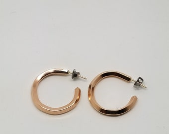 14k rose gold filled hoop earrings