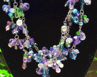 Custom Made Trendy MultiStrand  Necklace in every Metal and Color