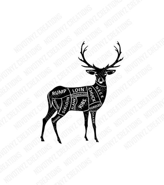 deer meat cuts svg butcher svg hunting svg deer