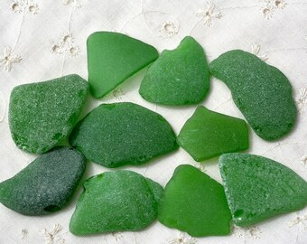 Genuine Sea Glass. Bottle Green Sea Glass. Beach Glass. Big Natural Mediterranean Sea Glass. For Jewelry and Crafts. From Israel