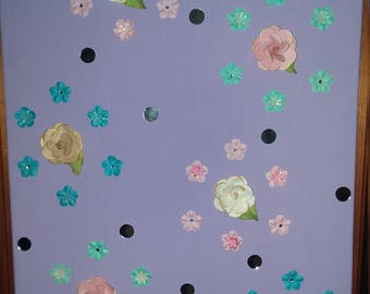 Flower and glass canvas