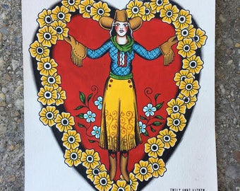 Sweetheart of the Rodeo Painting