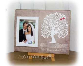 Wedding Gift for an Aunt and Uncle, Aunt Gift, Uncle Gift, Personalized Family Tree for Aunt and Uncle, Aunt and Uncle Picture Frame 12X16