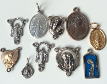 Lot of religious medals / Catholic medals / 3 ways medals
