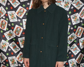 Vintage 80's Green Wool Coat