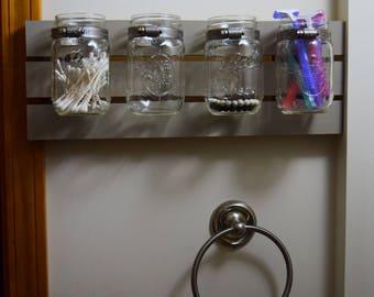 Mason Jar Storage Shelf
