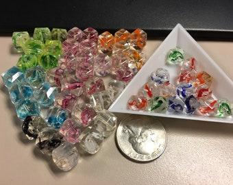 Acrylic polygonal beads