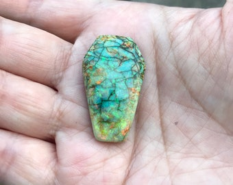 Monarch opal cabochon