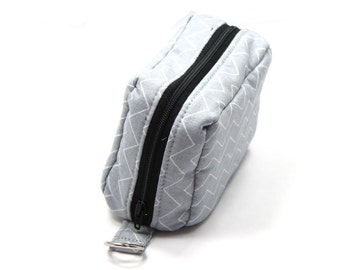 Essential Oil Case Holds 6 Bottles Essential Oil Bag Gray and White Chevron