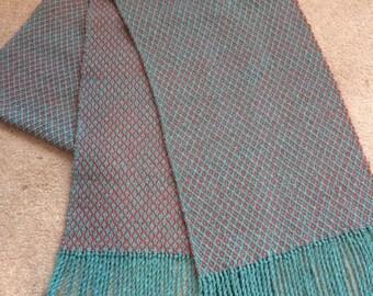 Handwoven Scarf - suri alpaca, wool and tussah silk