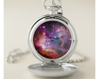 Angelic Galaxy Pocket Watch - Silver or Gold Cases Available!