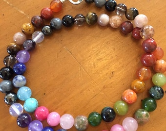 Chakra Balancing and Healing Necklace, Charged with Reiki