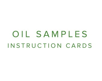 Oil Samples Instructions Cards