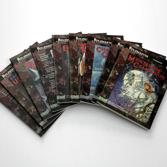 Lot 9 Rolemaster RPG ICE Standard System Sourcebook Annual Companion Books