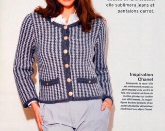 Tutorial jacket Lady knitting sewing