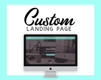 One Page Website - Landing Page - Wordpress Web Design - Custom Divi Business Site - Responsive Website
