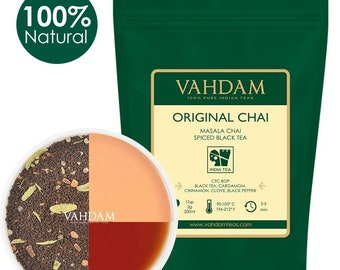 India's Original Masala Chai Tea Leaves (100 Cups,7oz)  Ancient Indian House Recipe - CTC Black Tea blended from India 3.53oz (PACK OF 2)