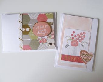 You Are My Sweet Delight and Happy A6 Cards, Set of 2