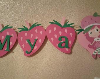 Strawberry shortcake Birthday party banner
