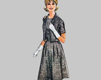 1963 Dress and jacket pattern McCalls 6859 Bust 35