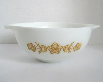 Vintage Pyrex Golden Butterfly Mixing Bowl Batter Bowl