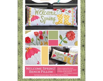 """Pattern - """"Welcome Spring!"""" Bench Pillow Paper Sewing Pattern / Instruction Booklet by KimberBell (KD173)"""