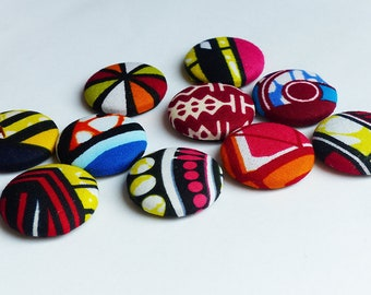 magnet wax 2.8 cm multicolored pattern fabric