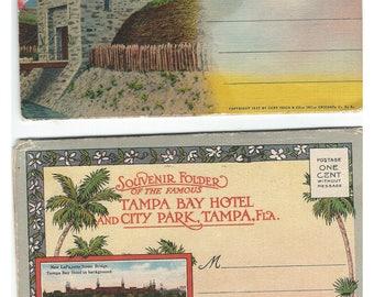 2 VINTAGE SOUVENIR FOLDERS-Ft. Niagara & Tampa Bay Hotel