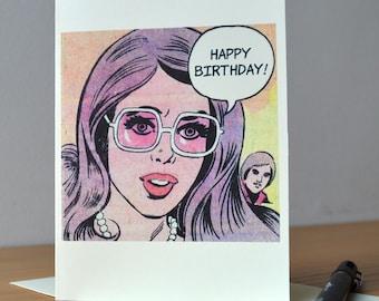 Birthday Card,  Funny Birthday Card, Humorous Birthday Card, Cute Love Card, For her, For him, For Boyfriend, For Girlfriend, Retro Card