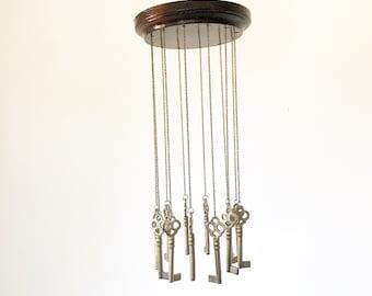 Authentic Vintage Skeleton Key Mobile / Wind Chime-Vintage Rustic Décor