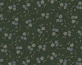 Flowers, Green Fabric, Floral Fabric, Flower Fabric, Green Floral Fabric, 01976