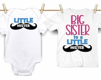 Sister svg SVG DXF JPEG Silhouette Cameo Cricut Big sister iron on baby svg New sister Big sister to a little mister  Little mister svg